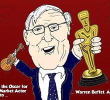 Warren Buffet caricature Oscar Winner by Binary-Options
