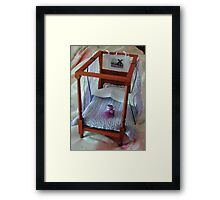 Four Poster in Miniature : 1/12th scale Framed Print