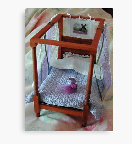 Four Poster in Miniature : 1/12th scale Canvas Print