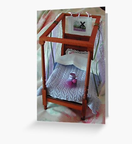 Four Poster in Miniature : 1/12th scale Greeting Card