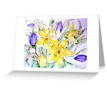 DAFFODILS AND TULIPS Greeting Card