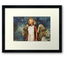 Angel and Sky Framed Print