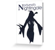 Nocturnal's Nightingale Greeting Card