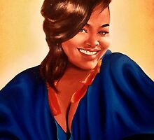 Beautifully Human - Portrait of Jill Scott by James Nelson