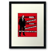 Rules of Transport Framed Print