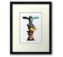 Totem of Owls Framed Print