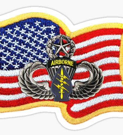 Special Forces Patch with U.S. Flag Sticker