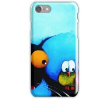 Stressie Cat and the Whimsical Birds iPhone Case/Skin