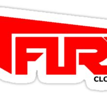 FURY CLOTHING RED/BLACK Sticker