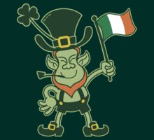 Proud Leprechaun Waving an Irish Flag by Zoo-co