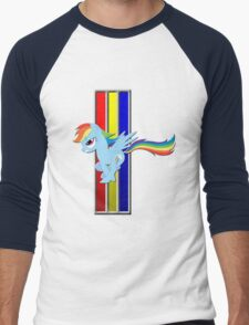 Mustang Rainbow Dash (Logo) Men's Baseball ¾ T-Shirt