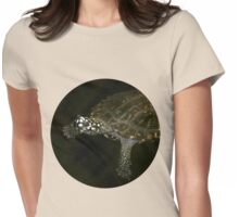 Swimming Turtle Womens Fitted T-Shirt