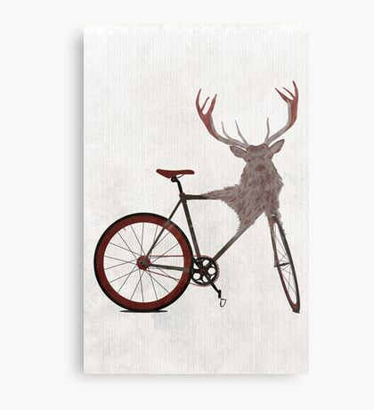 Stag Bike Metal Print