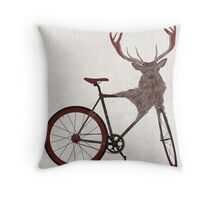 Stag Bike Throw Pillow