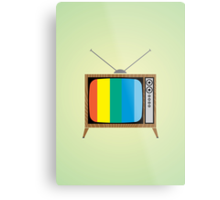 Retro TV Metal Print
