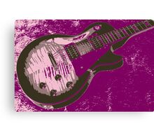 Les Paul artwork - Purple Canvas Print