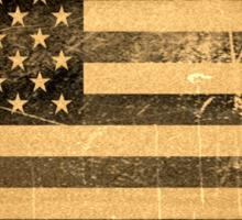 Grunge American flag Sticker