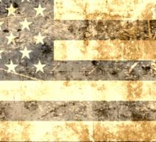 Grunge American flag 2 Sticker