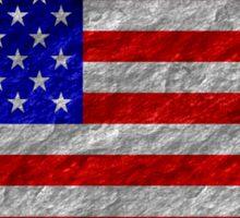 Grunge American Flag 4 Sticker