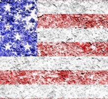 Grunge American Flag 5 Sticker