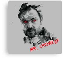 Mister Crowley Watercolor Canvas Print