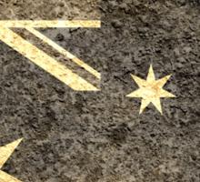 Grunge Australia Flag 2 Sticker