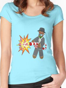 Gingerbread Gangster Women's Fitted Scoop T-Shirt