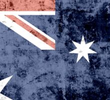 Grunge Australia Flag 3 Sticker