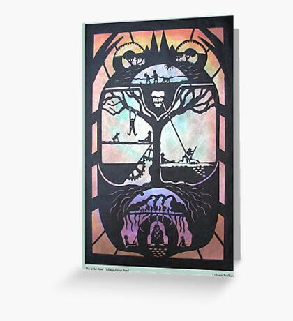 Gold Bug in Black Greeting Card