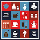 Household items on a colorful background by Alexzel