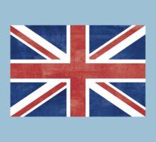 Grunge United Kingdom Flag One Piece - Short Sleeve