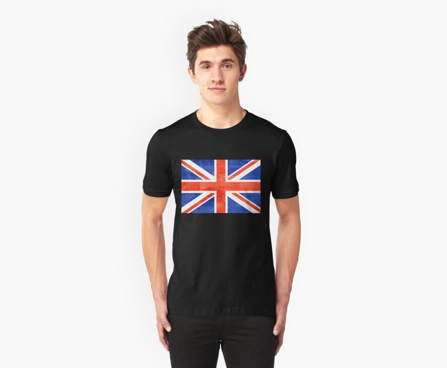 Grunge United Kingdom Flag by Nhan Ngo