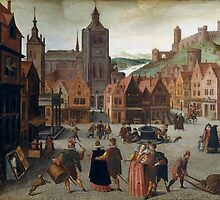Abel Grimmer The Marketplace in Bergen op Zoom probably 1590 and 1597 by Adam Asar