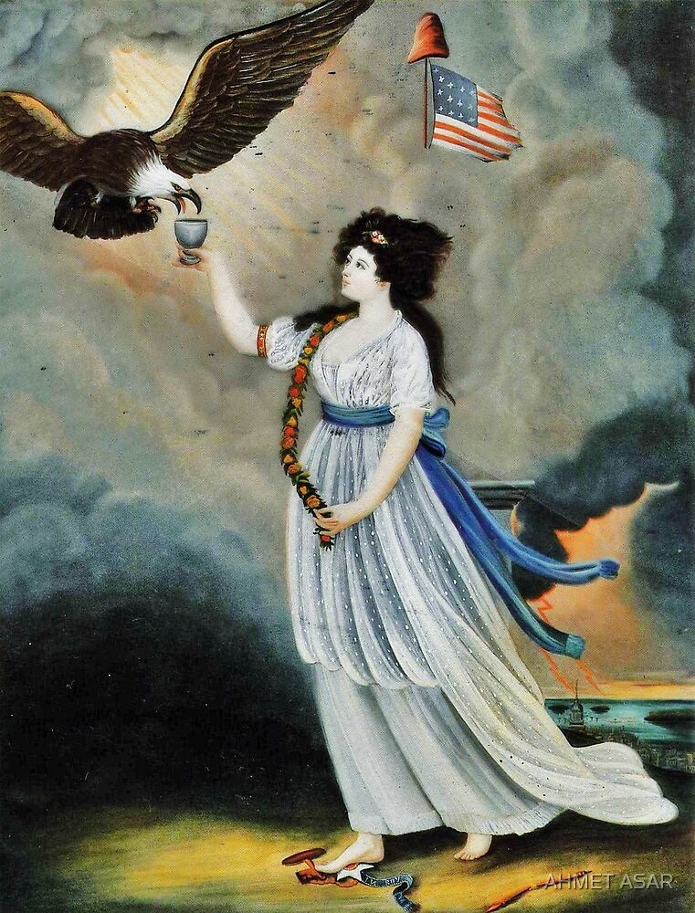 Abijah Canfield Liberty in the Form of the Goddess of Youth Giving Support to the Bald Eagle, 1800 now at the Henry Ford Museum and Greenfield Village (1) by MotionAge Media