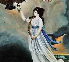 Abijah Canfield Liberty in the Form of the Goddess of Youth Giving Support to the Bald Eagle, 1800 now at the Henry Ford Museum and Greenfield Village (1) by Adam Asar