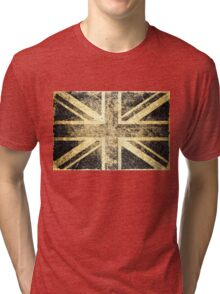 Grunge United Kingdom Flag 4 Tri-blend T-Shirt