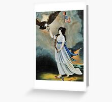 Abijah Canfield Liberty in the Form of the Goddess of Youth Giving Support to the Bald Eagle, 1800 now at the Henry Ford Museum and Greenfield Village Greeting Card