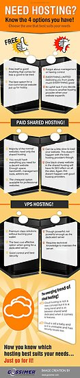 Web Hosting – Know the 4 Options & Pick the Best One by Infographics