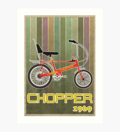 Chopper Bicycle Art Print