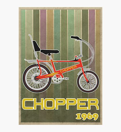 Chopper Bicycle Photographic Print
