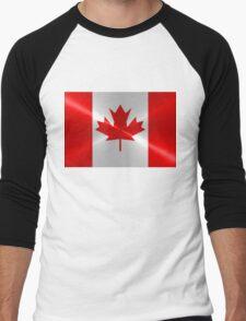 Canada Flag Men's Baseball ¾ T-Shirt