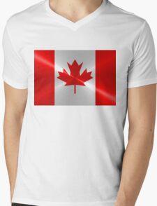Canada Flag Mens V-Neck T-Shirt