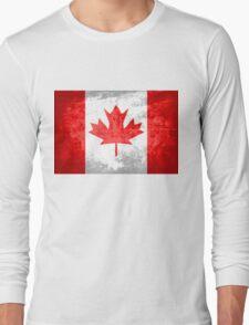 Grunge Canada Flag 2 Long Sleeve T-Shirt