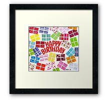 HAPPY BIRTHDAY Framed Print