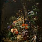 Abraham Mignon Still Life with Fruit, Fish, and a Nest c. 1675 by Adam Asar