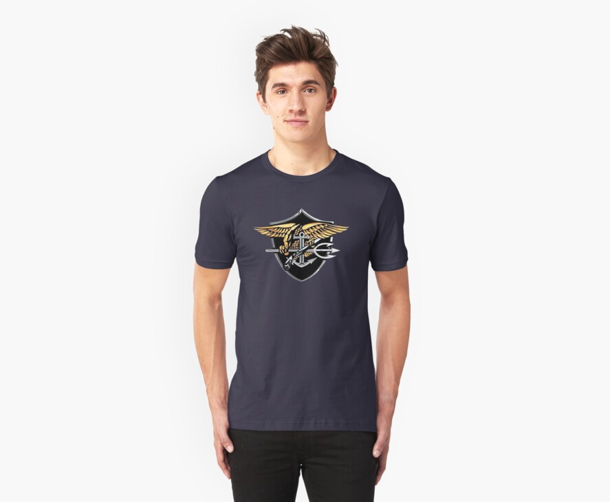 Navy Seals Trident  (t-Shirt) by Walter Colvin