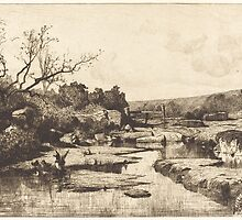 Adolphe Appian Landscape 1870 by Adam Asar