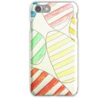 stripy eggs iPhone Case/Skin