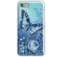 Blue Butterfly Vintage iPhone iPod Case iPhone Case/Skin