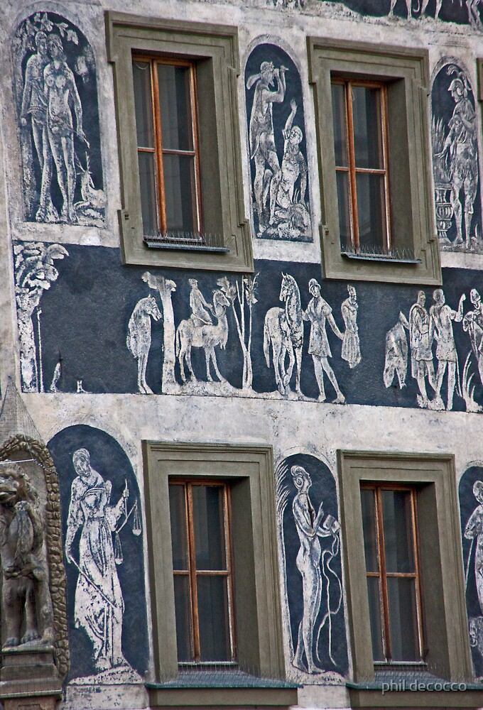 Sgraffito Renaissance Windows by phil decocco